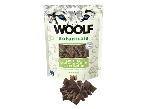 WOOLF Botanicals Lamb Stripes with rosehip and craneberry, 80G